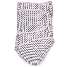 image of Miracle Blanket® Chevron Swaddle in Pink/Grey