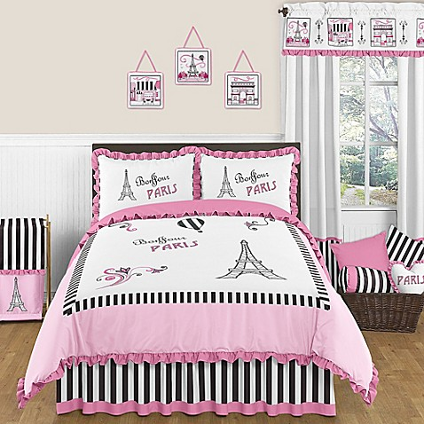 sweet jojo designs paris bedding collection - bed bath & beyond