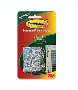 Clips de plástico para luces 3M Command™para exterior Set de 16 pzas.