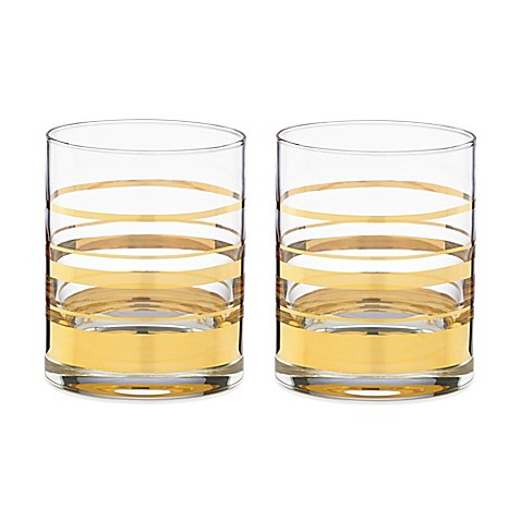 kate spade new york Hampton Street™ Double Old Fashioned Glass (Set of 2)