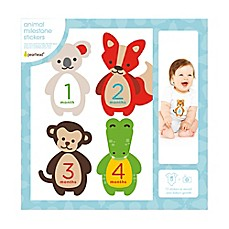 image of Pearhead Felt Animal Milestone Belly Stickers