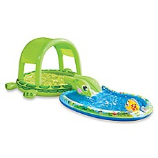 image of Banzai Shade-N-Slide Turtle Splash Pool