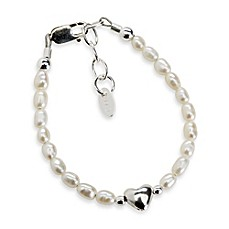 image of Cherished Moments Destiny Medium Sterling Silver with Freshwater Cultured White Pearls Bracelet