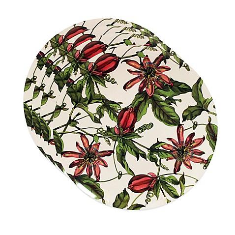 Caskata studio pink passion 4 piece canape plate set bed for Canape plate sets