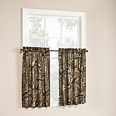 image of Mossy Oak Break Up Infinity 36-Inch Window Curtain Tier Pair