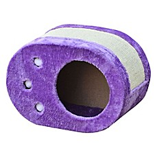 image of Pet Pals Paw Shaped Cat Scratch Box with Sisal in Purple