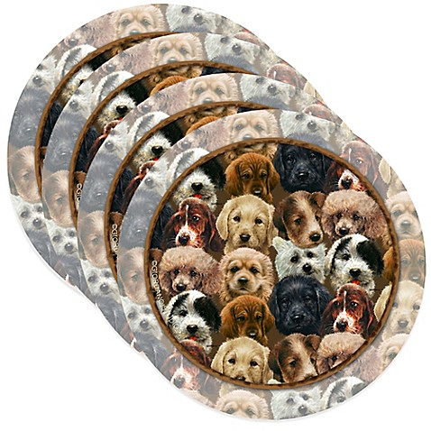 thirstystone puppies coasters set of 4 bed bath beyond. Black Bedroom Furniture Sets. Home Design Ideas