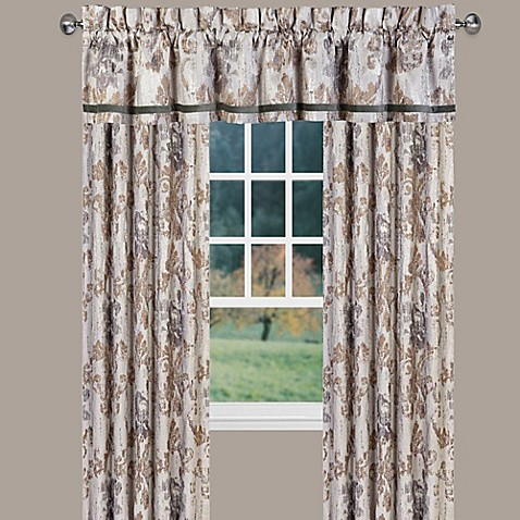 J Queen New York Seville Window Curtain Panel And Valance Bed Bath Beyond