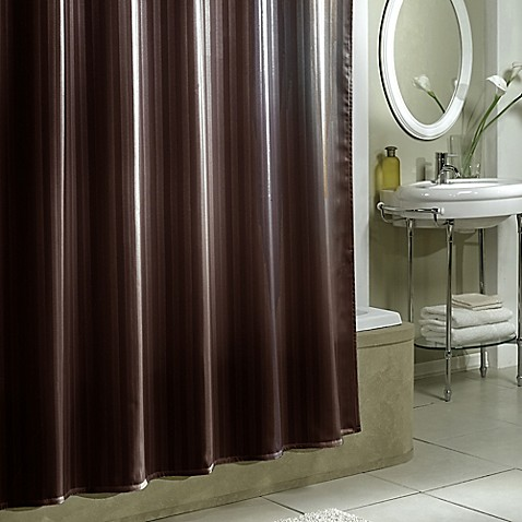 Damask Stripe Fabric Shower Curtain Liner - Bed Bath & Beyond