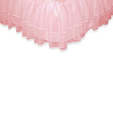 Tadpoles™ by Sleeping Partners Tulle Triple Layer Full Bed Skirt in Pink