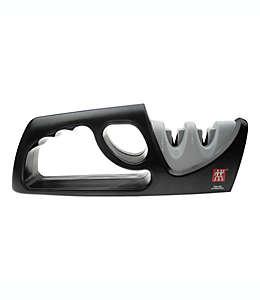 Afilador manual de cuchillos Zwilling® J.A. Henckels, de 2 etapas en gris/negro