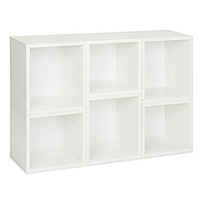 image of Way Basics Tool-Free Assembly zBoard paperboard Tall Storage Cubes in White (Set of 6)