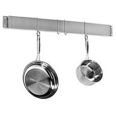 image of Cuisinart® Brushed Stainless Steel Wall Bar Pot Rack