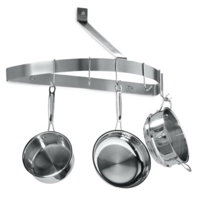 Cuisinart Brushed Stainless Steel Half Circle Wall Pot Rack Bed