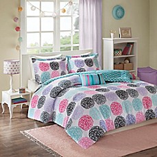 image of Mizone Carly Comforter Set in Purple