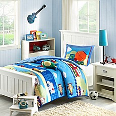image of Mizone Kids Totally Transit Reversible Comforter Set