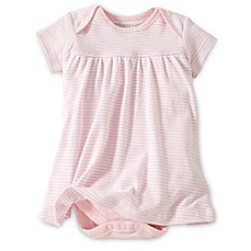 image of Burt's Bees Baby® Organic Cotton Short Sleeve Dress in Pink Stripe
