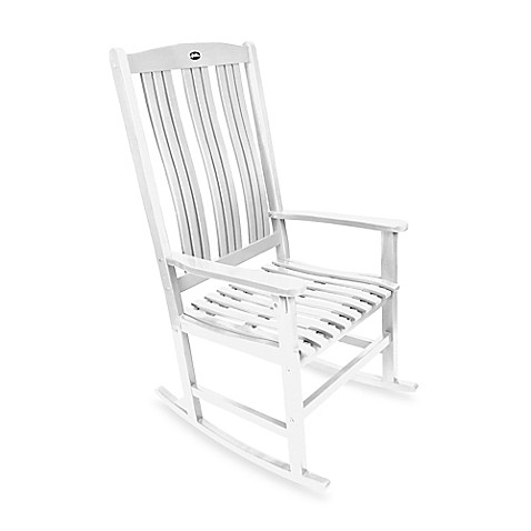 buy outdoor rocking chair in white from bed bath beyond. Black Bedroom Furniture Sets. Home Design Ideas