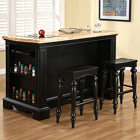 Pennfield Kitchen Island with Stool - Bed Bath & Beyond