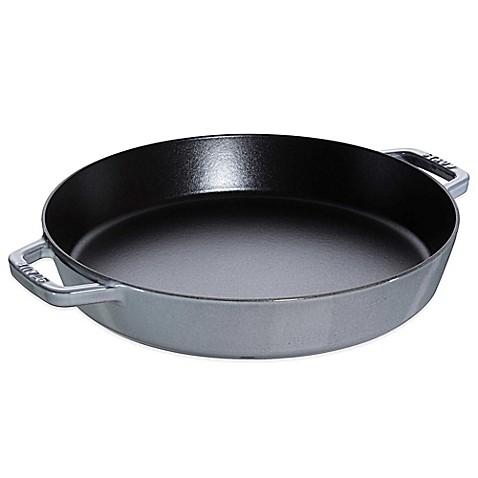 staub 13inch double handle fry pan