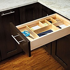 image of Rev-A-Shelf Adjustable Wood Drawer Organizer Kit