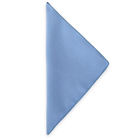Basic Polyester Napkins in Light Blue (Set of 4)