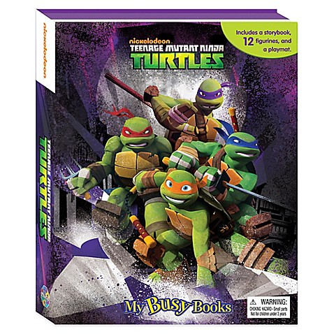 image of Nickelodeon™ Teenage Mutant Ninja Turtles My Busy Book - Teenage Mutant Ninja Turtles - Bed Bath & Beyond