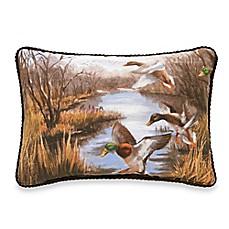 image of duck approach oblong throw pillow