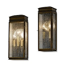 image of Feiss® Whitaker Outdoor Wall Lantern in Astral Bronze