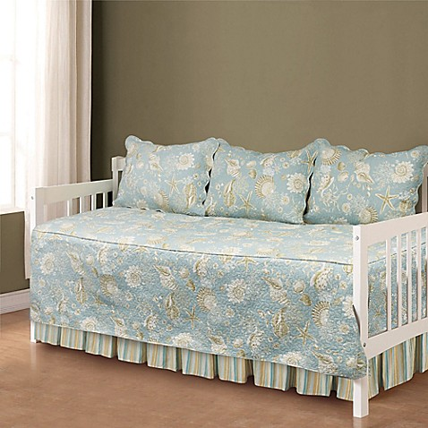 natural shells daybed bedding set in blue beige bed bath beyond