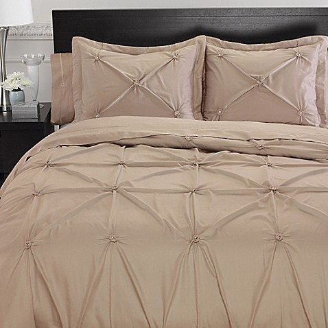 buy memento king duvet cover with swarovski crystal accents in taupe from bed bath beyond. Black Bedroom Furniture Sets. Home Design Ideas