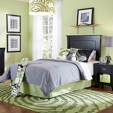 powell furniture mission black twin bedroom in a box bed bath