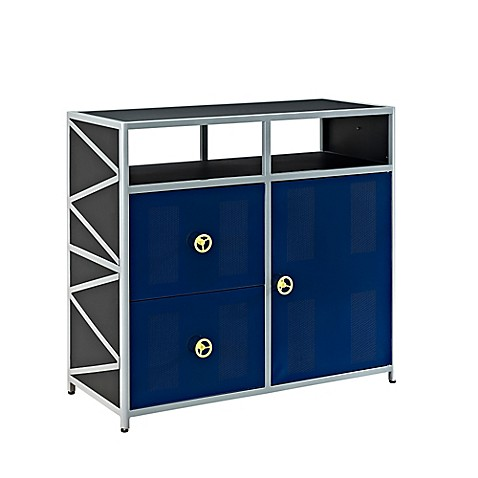 Powell Furniture Dune Buggy 1 Door 2 Drawer Dresser In Black Blue