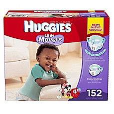 image of Huggies® Little Movers Size 4 152-Count Disposable Diapers