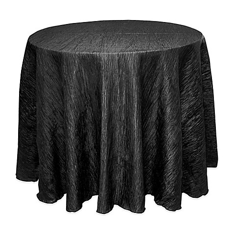Buy Delano 90 Inch Round Tablecloth In Black From Bed Bath