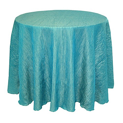 Buy delano 108 inch round tablecloth in turquoise from bed for 108 inch round table cloth