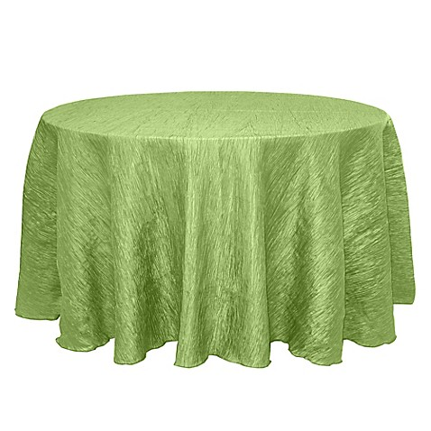 Buy delano 120 inch round tablecloth in apple green from for 120 round table cloths