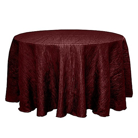Buy delano 120 inch round tablecloth in burgundy from bed for 120 round table cloths