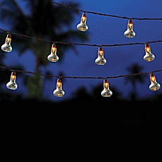 image of Outdoor 10-Bulb String Lights in Clear