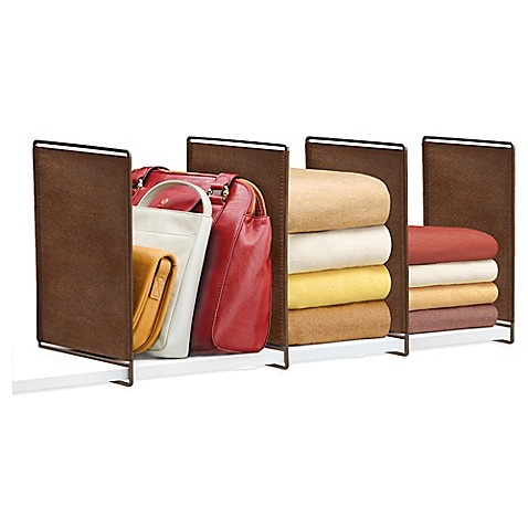 Lynk Vela Shelf Divider in Bronze (Set of 4)