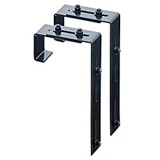 image of Mayne Adjustable Deck Rail Bracket in Black (Set of 2)