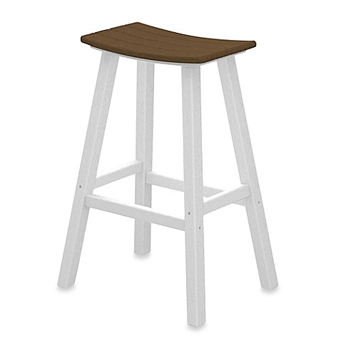 Buy Polywood 174 Contempo 30 Inch Saddle Bar Stool In White