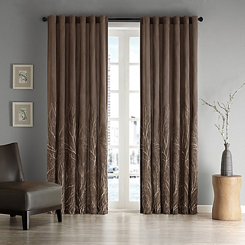 silk sheets bed bath beyond bestsciaticatreatments buy andora 95 inch window curtain panel in chocolate from 249