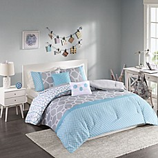 image of Intelligent Design Clara Reversible Comforter Set in Blue