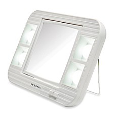 Jerdon 5X/1X LED Lighted Makeup Mirror In White