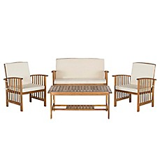 image of Safavieh Outer Banks 4-Piece Conversation Set