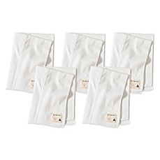 image of Burt's Bees Baby® 5-Pack Organic Cotton Burp Cloths in Cloud