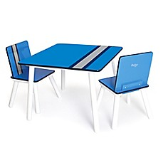 image of P'kolino® Classically Cool Table and Chairs in Racing Stripe