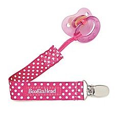 image of Booginhead® PaciGrip Pacifier Holder in Pink Dot