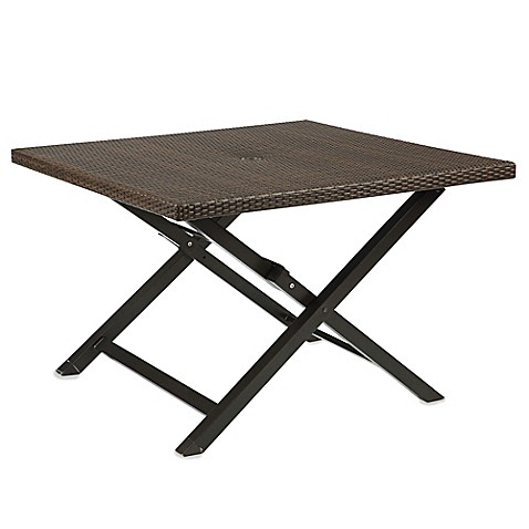 Buy Barrington Wicker 4 Person Folding Dining Table From Bed Bath Beyond